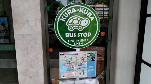 クラクラバスバス停