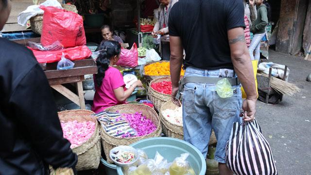 チャナン用のお花を売る店