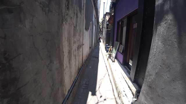 バンガローへの小道