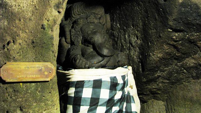 ゴアガジャにあるガネーシャ象