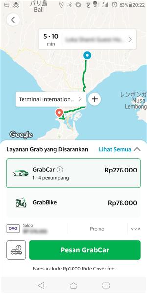 GrabTaxiアプリの使い方3