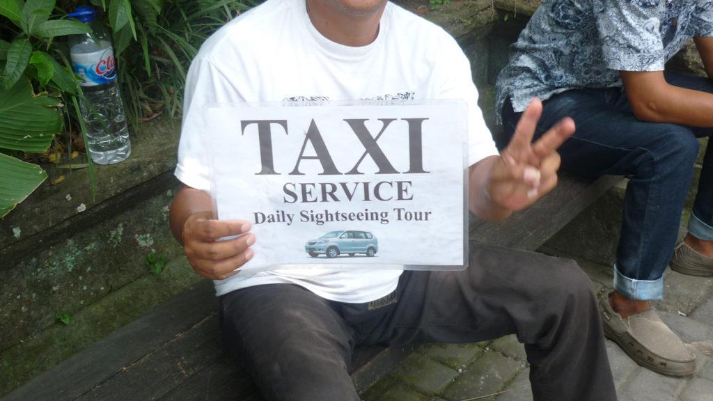 ウブドのローカルタクシー