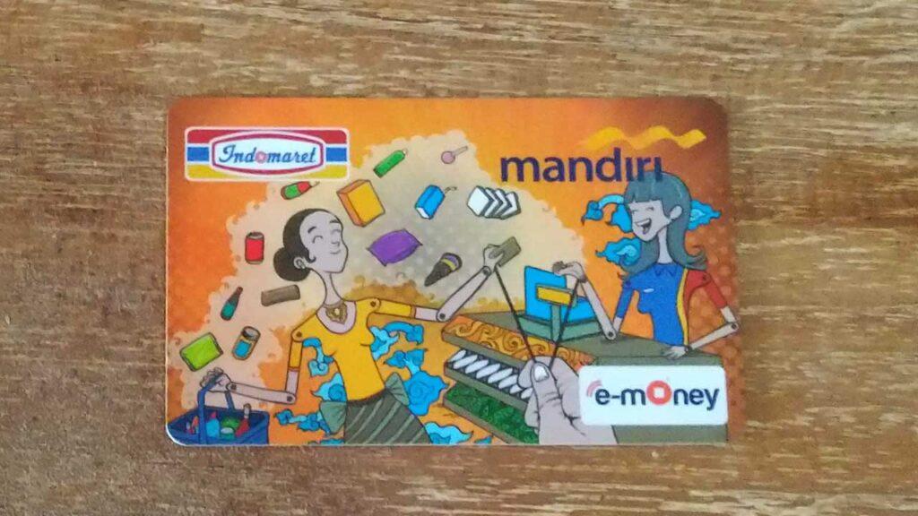 Mandiri銀行のe-moneyカード